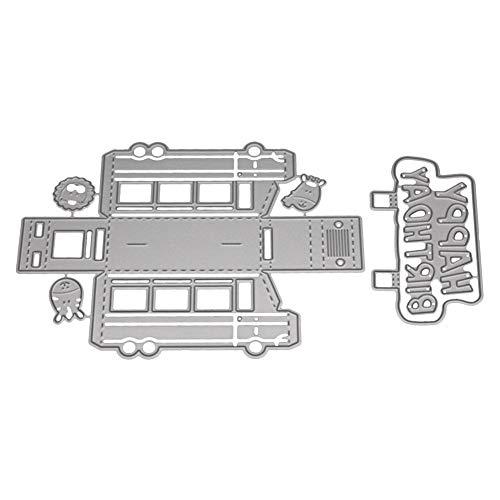 Xmiral Stanzmaschine Schablonen Stanzformen Stanzen Schablonen,3D Geschenkbox Auto(E)