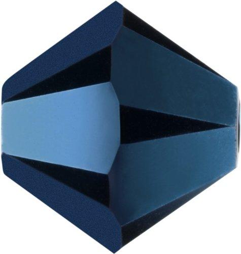 Original Swarovski Elements Beads 5328 MM 5,0 - Tanzanite AB (539 AB) ; Diameter in mm: 5 ; Packing Unit: 720 pcs. Crystal Metallic Blue 2x (001 METBL2)