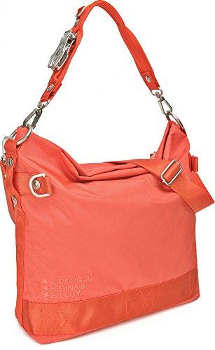GEORGE GINA & LUCY, Damen Handtaschen, Hobo-Bag, Schultertaschen, Beuteltaschen, Henkeltaschen, 40 x 32 x 13 cm (B x H x T), Farbe:Multi hot lobster