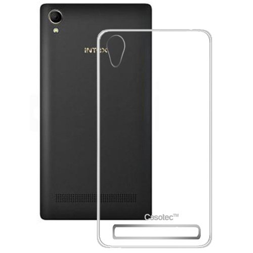 Casotec Soft TPU Back Case Cover for Intex Aqua Power Plus - Clear  available at amazon for Rs.149