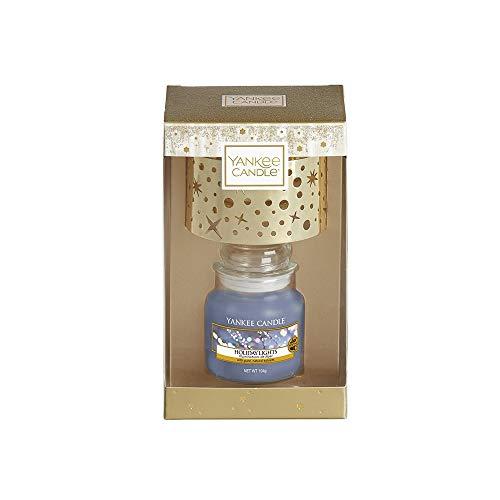 Yankee Candle Holiday Lights Kerze im Glas Geschenkset, Glass, Lila, 2- teilig (Holiday Gläser Light)