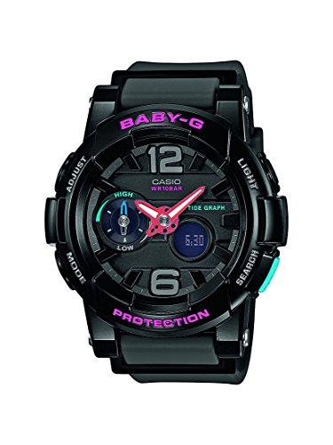 Casio Damen-Armbanduhr Analog - Digital Quarz Resin BGA-180-1BER (G-shock Baby-g Damen)