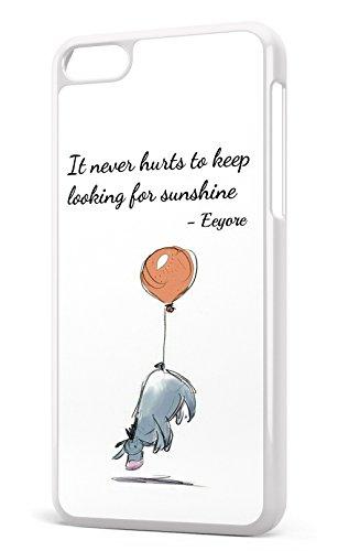 """Walt Disney Bourriquet de Winnie l'ourson Citation """"Looking For Sunshine Housse/Etui rigide en plastique pour iPhone 5C Blanc"""