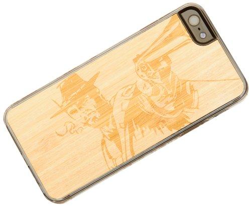 Geschnitzt klar natürliches Bambus Holz Schutzhülle für iPhone 5-Wild West (i5-cc1a-e-wldws)