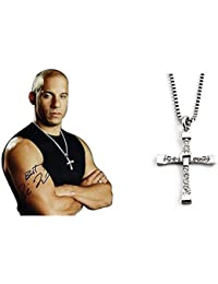 Silver Alloy Fast and Furious Vin Diesel Pendent Necklace by Delat