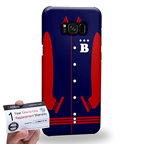 (Case88 [Samsung Galaxy S8 Plus / S8+] 3D Hülle / Schutzhülle & Garantiekarte - Art Sports MidnightBlue Baseball Jersey 1985)