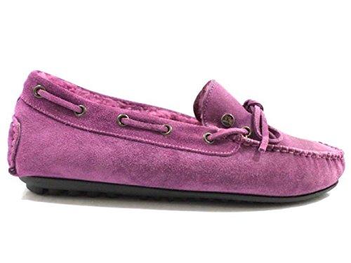 scarpe uomo ROY ROGERS 42 EU mocassini viola camoscio WH152