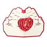 MUROAD Creativo 3D Biglietto di auguri -3D pop up Biglietti di auguri ,San Valentino carta, Cartolina di Natale,Adatto per compleanno, anniversari, ringraziamenti, benedizioni, affari e saluti. (Amore nella mia mano)