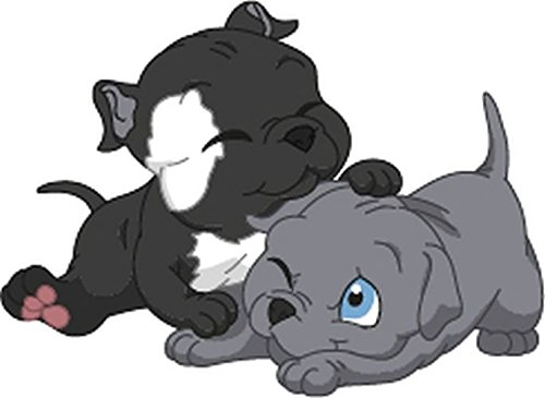 Bambinella® XL - Klebesticker - Motiv: Baby Pit Bull Terrier Hund - Hergestellt in eigener Werkstatt in - Bull Pit Spielzeug