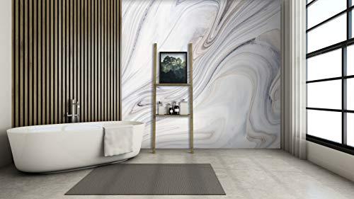 3D Weißer Wirbel 190 Muster Fliese Marmor Tapeten Drucken Abziehbild Innen Wandgemälde Selbstklebend MXY DE Maze (Vinyl (Kein Kleber & abnehmbar), 【 82
