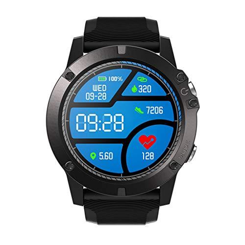 HSKB Zeblaze Vibe 3 PRO Smartwatch, Smart Watch Farbmonitor Intelligenter Herzfrequenzmonitor Armband für iOS Android,Blutdruck Armbanduhr Fitness HR Blutsauerstoff (Schwarz)