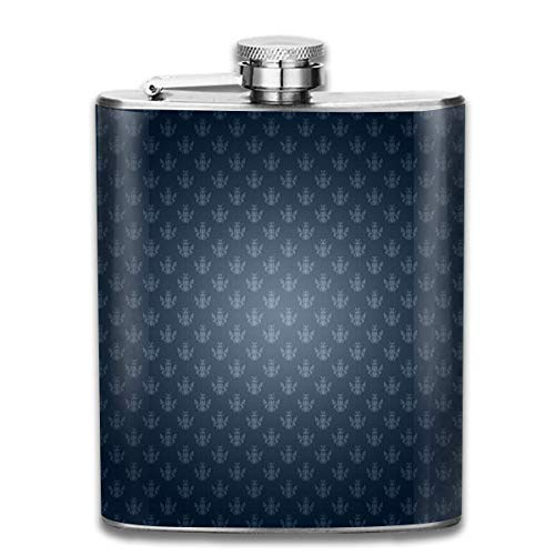 dfegyfr 7 Oz Stainless Steel Flask Damask Desktop Wallpaper Fashion Portable Stainless Steel Hip Flask Whiskey Bottle for Men and Women 7 Oz - Skyrim Wallpaper