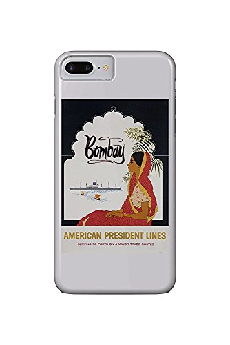 1957 Poster (American President Lines - Bombay Vintage Poster c. 1957 (iPhone 7 Plus Cell Phone Case, Slim Barely There))
