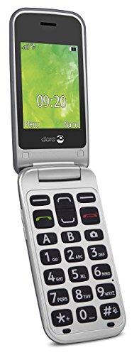Doro 2414 GSM Mobiltelefon im eleganten Klappdesign stahl/silber