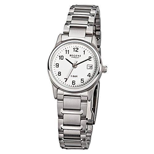 Regent de mujer reloj de pulsera elegante Analog Reloj de cuarzo de acero pulsera de plata (urf140