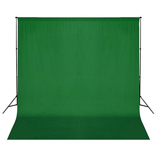 vidaXL ALU Foto Studio Set Hintergrundsystem Hintergrund 3x6 m Grün Fotostudio