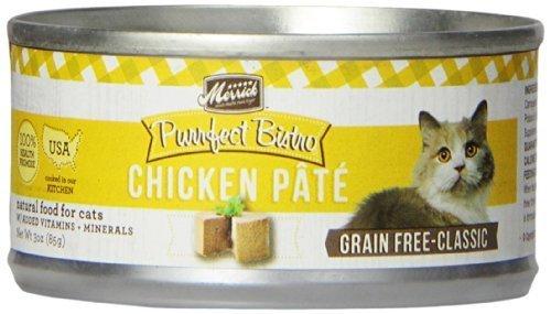 Merrick 24 Count Purrfect Bistro Chicken Pat�� Canned Cat Food, 3-Ounce by Merrick (Purrfect Cat Food)