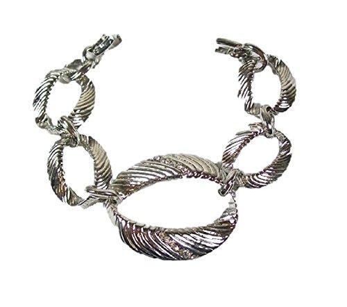 Damen Silber Ton Brautjungfer Ball Fancy Kleid Party Armband Armreif Geschenk Schmuck (Für Halloween-kostüme Preiswerte Frauen)