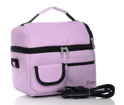 ReaLegend Lunch Bag Cooler Carry Bag Insulated Tote Large Capacity with Adjustable Shoulder Strap Allerbaby Bento Box Bag Travel Lunch Tote - Purple by ReaLegend - Multi Purpose Insulated Tote