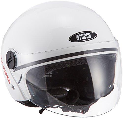 Studds Track Super Half Helmet (White, XL)