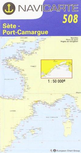 Carte marine : Sète - Port Camargue par Cartes Navicarte