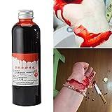 HshDUti Halloween 30/60 ml Broma de Botella de líquido de Sangre Falsa Vampiro teatral Accesorios de Cosplay Accesorios de Disfraces Accesorios de Fiesta- 60ml de Sangre Fresca