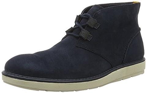 Clarks Herren Fayeman Hi Desert Boots, Blau (Navy Suede), 44 EU