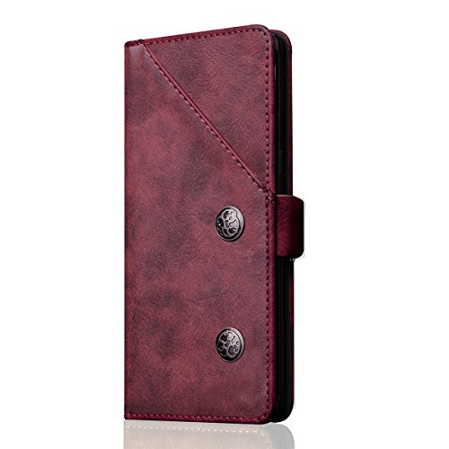 SUNWAY Samsung Galaxy Note 8 Case, [Bronze Pattern] Premium PU Leather  Wallet Cases Card Slots Ultra Slim Flip Covers Protective Cases with Phone