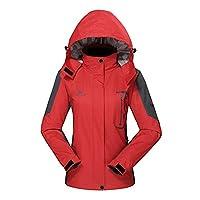 Diamond Candy Hooded Windbreaker Waterproof Jacket Outdoor Women's Sportswear Red XL