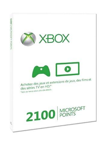 Carte Xbox Live 2100 Microsoft points