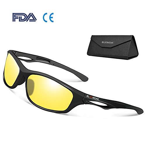 Nachtbrillen - Polarisierte Gläser filtern Blendung durch Scheinwerfer / Tr90 Unzerbrechlicher Rahmen / Tac-Objektiv - Zum Laufen / Radfahren / Fahren
