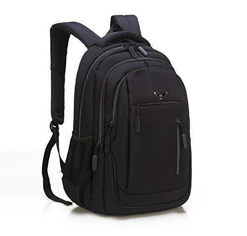 Schulrucksack Jungen Teenager, Rucksack Schule, Multifunktion Rucksäcke Daypacks 15.6 Zoll Notebookrucksack Business Laptop Rucksack für Herren (01Schwarz)