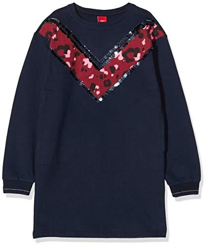 s.Oliver Mädchen 66.911.82.5843 Kleid, Blau (Dark Blue 5952), 158 (Herstellergröße:158/REG)