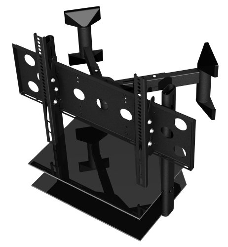 PMV Mounts Corner Wall Mount Shelf Kit for TV