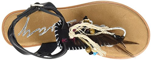 Coolway Damen Honolulu Riemchensandalen Schwarz (Black)