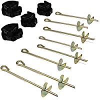 Skyhigh Double Strength Trampoline Tie Down Anchor Kit with Galvanised Steel Stakes