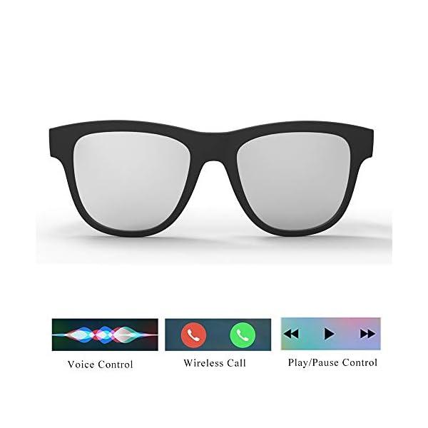 Auriculares Estéreo, Auriculares Bluetooth Gafas De Sol Música Auricular Sin Manos De Conducción Gafas Deportivas… 5