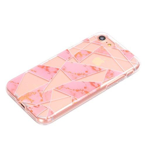 iPhone 7case, Doujiaz trasparenti in silicone morbido trasparente TPU bumper protettiva posteriore custodia cover per Apple iPhone 7(11,9cm) Color-06