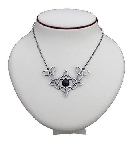 Dark Dreams Gothic Mittelalter Kelten Collier Halskette Anhänger Schmuck Lefey , Farbe:schwarz