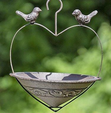 Vogeltränke zum Hängen H25cm Gusseisen rost