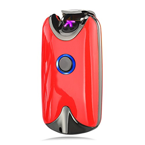 Lichtbogen Feuerzeug, Modesty Elektronisches Feuerzeug usb Aufladbares, Feuerzeug, Sturmfeuerzeug(Rot) - EC002