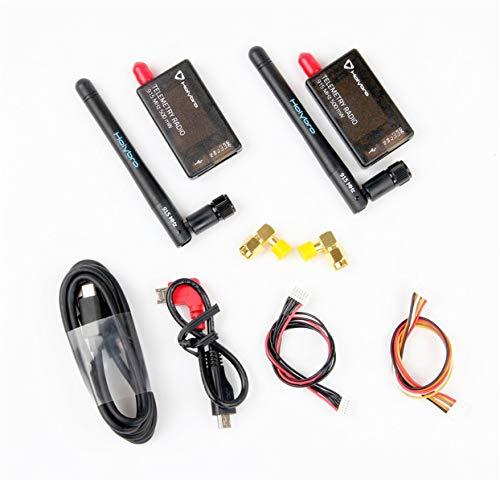 Tree-on-Life 433 MHz 500 mW Transceiver Radio FPV Telemetrieset V3 Kompatibel für PIXHawk 4 Flight Controller 117 dBm mit Antenne Kompatibel für RC-Drohnen - Antenne Transceiver