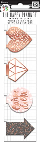 Unbekannt Me & My Big Ideas magc-15The Happy Planer Magnet Lesezeichen, Rose Gold -