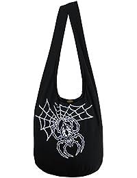NaLuck spider black widow Rock Skull Punk gothic Hippie Hobo Cross body Shoulder Messenger Bag PKG04