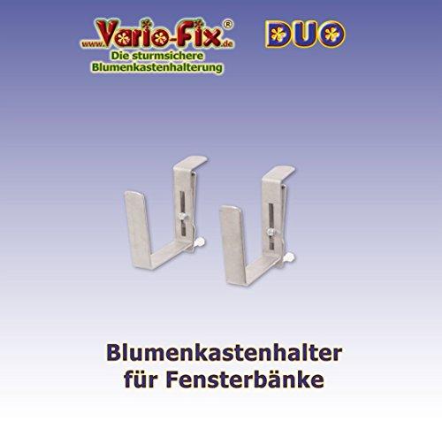 Vario-Fix - sturmsichere Blumenkasten Halter - DUO, für die Montage vor der Fensterbank (15)