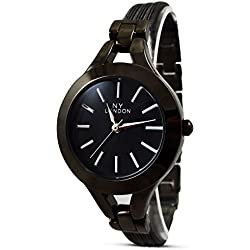 Branded Fashion Unique Ladies Watch / Womens Watches at Discounted Sale Price - Black Strap Round Analog Dial Quartz