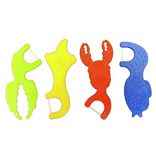 6x Kids Ocean Flosser Zahnseidenhalter 32 Stück Beutel (6x 32 Stück)