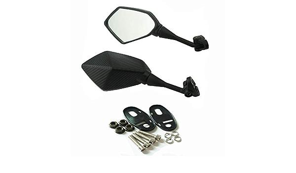 Couleur : Noir 2pcs Motorcycle Racing Mirrors Sport Bike R/étroviseur for Honda CBR 900 919 929 650 600RR HYOSUNG GT125R R S Kawasaki Ninja 250R Miroirs FSM Examen