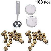 Artibetter 103 Piezas Sellado de Perlas de Cera Kit de Palos de Cera para Sello de Sello de Cera