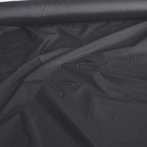 TOLKO Outdoor-Stoff Meterware als Leichter Wasserdichter NylonStoff in Schwarz | Breite: 150 cm, für Regenjacke Plane Regenschutz